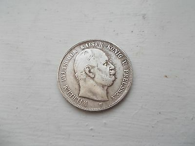 German Funf [ 5 ] Mark Coin. Wilhelm Dated 1876. Copy, Not Silver.