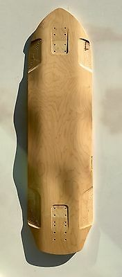 """Longboard Downhill top mount quality skateboard blank 10 x 37"""" BACON CONCAVE D15"""