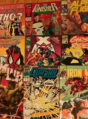 MIXED BOX OF 100 MARVEL & DC COMICS - 80's-00's - ALL DIFFERENT