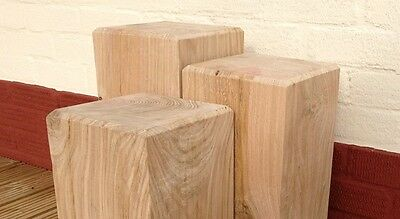 Solid Oak Beam Lamp Stand, Side Table Set Of 3. Handmade