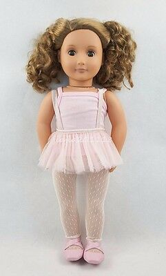 18'' New BATTAT Our Generation American Girl Doll Brown Wavy Hair Gifts #33