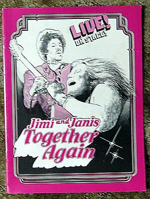"1978 Broadway concert progam - ""JIMI & JANIS - TOGETHER AGAIN"" rock band history"