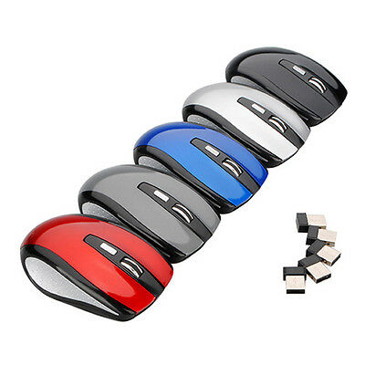 2.4GHz USB Wireless Receiver Cordless Optical Scroll Mouse For PC Laptop System