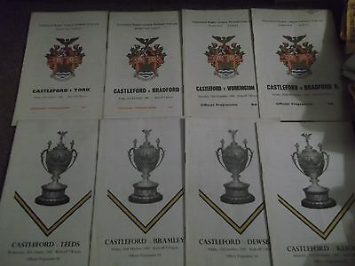 Castleford Rugby League Programme Collection Homes 1967 - 1969 X 8