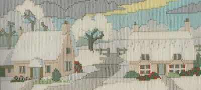 Derwentwater Designs Lanes Series Long Stitch Kit  Snowy Lane