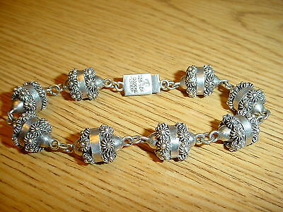 Antique Sterling Silver Etruscan Mexico Taxco Filigree Cannetille  Bracelet