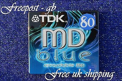 A Tdk Blank Mini Disc - 80 Minutes Md Recordable  - Sealed New - With Case