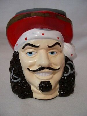 Captain Morgan Pirate Figural Mug Cup Spiced Rum Collectible Molded Plastic