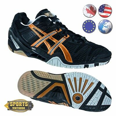 BRAND NEW Asics Gel-Blast 4 Black/Gold/Silver Court Shoes