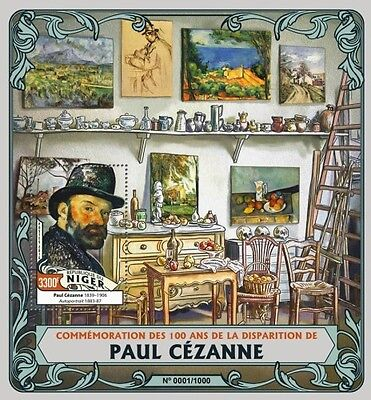 Z08 Imperforated NIG16119b NIGER 2016 Paul Cezanne MNH