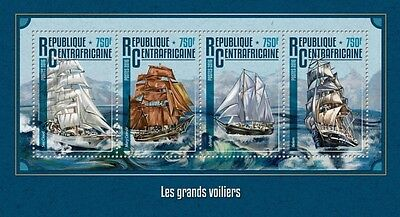 Z08 IMPERFORATED CA16210a CENTRAL AFRICA 2016 Tall ships MNH