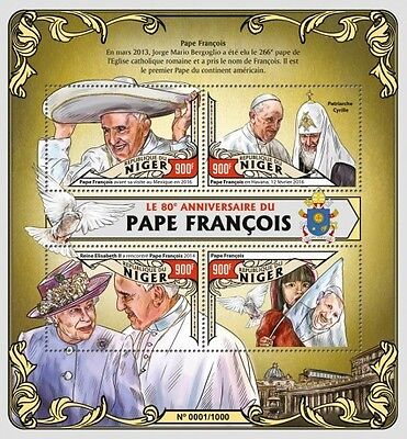 Z08 Imperforated NIG16120a NIGER 2016 Pope Francis MNH