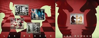 CA14518ab Central Africa 2014 Chess MNH SET