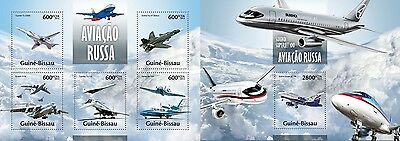 GB13309ab Guinea-BISSAU 2013 Russian Aviation MNH SET
