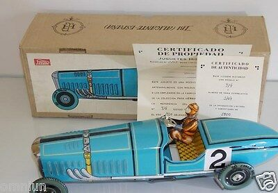 Antiguo coche hojalata Bugatti Paya 35cm // tin toy car
