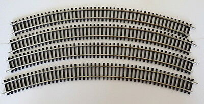 """Hornby R.609 Double Curve 3rd Radius 505mm/19.9"""" x 8 new ex-set [31/1]"""