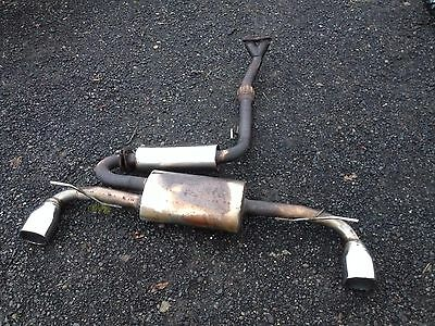 TOYOTA MR2 Mk1 RARE COBRA STAINLESS STEEL TWIN OUTLET EXHAUST SYSTEM (MONGOOSE)