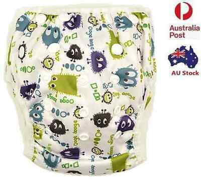 New Print Reusable Swim Nappy Boy Toddler Cover Diaper Pants Nappies Swimmers