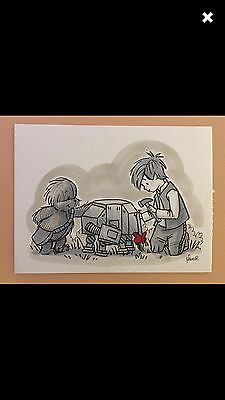 """Original Signed James Hance Wookie The Chew Drawing """"I'll Most Likely Lose It"""""""