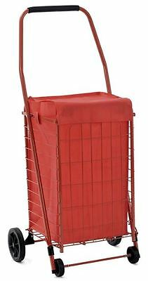 Shopping Cart With Wheels Liner Grocery Laundry Folding For Seniors Bag Home New