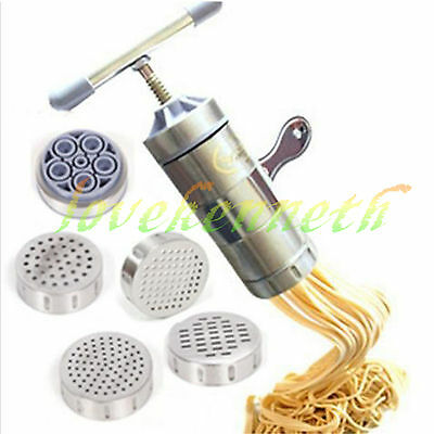 DIY Manual Noodle Making Machine Pasta Press Maker Juicer With 5 Shaping Molds