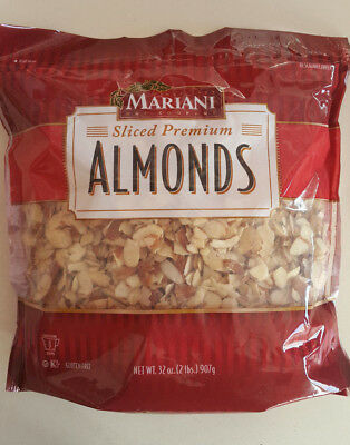 2 Lbs Sliced Premium Almonds, All Natural, Mariani Nut
