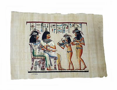 Papyrus Hand Painted Egyptian Art Picture Vintage Made in Egypt