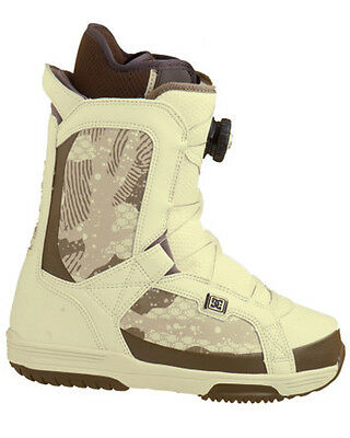 New Dc Scout Boa Women Snowboard Boots  10  Easy On Off Cream