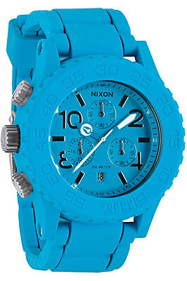 New Nixon 42 20 Chrono Watch Blue Surf 200 M 20 Atm Water Sports Stainless Steel