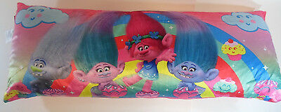 "4 FOOT Extra Large Trolls The Movie Dreamworks Plush Body Pillow 48""x18"" Poppy"
