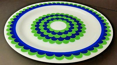 Vintage Pyrex Charger Plate Blue Green Underplate Chop Plate Hard To Find Rare