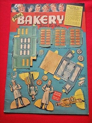 1936 Pillsbury Bakery Premium - Bakeryland Action Cut-Outs & Original Mailer