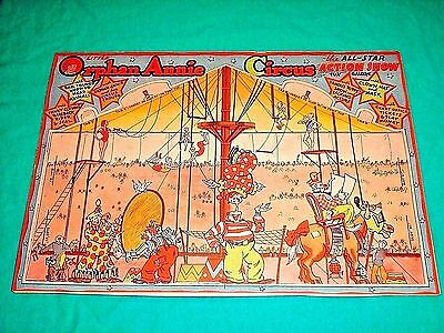 1935 Little Orphan Annie Circus Show Punch Out Book Vintage Cards Figures