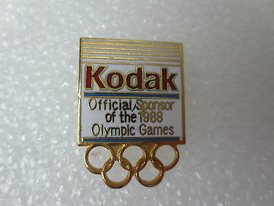 Calgary 1988 Winter Olympic Games Pin Badge, Official Sponsor Kodak Canada Sport