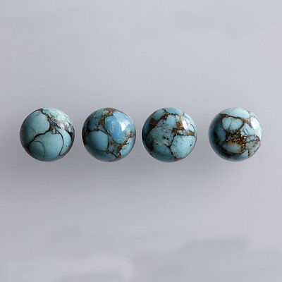 3MM Round Shape, Blue Copper Turquoise Calibrated Cabochons AG-233