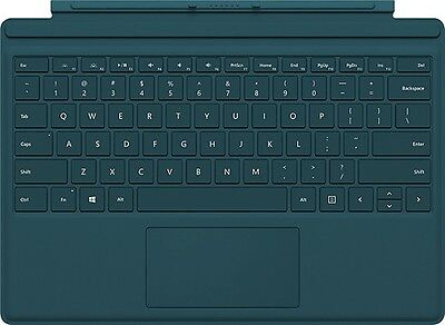 Genuine Microsoft Surface Pro 4 Type Cover Keyboard (QC7-00006) w /Backlit Teal