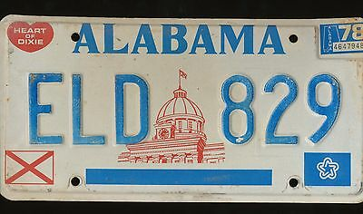 Alabama Heart Of Dixie 1978 License Plate Eld-829