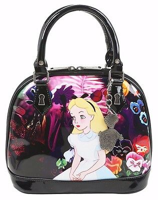 Disney Alice in Wonderland Flowers Dome Purse Satchel LE 1,500 Loungefly NWT