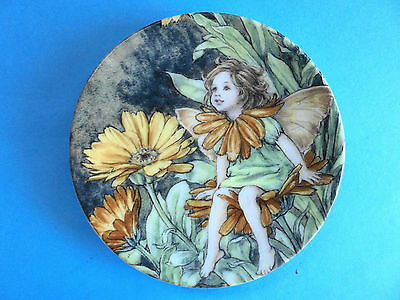 Marigold Fairy Plate  Cecily Mary Barker Flower Faires Royal Worcester