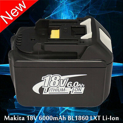 BRAND NEW 6.0Ah 18V Battery For Makita BL1860 LXT Lithium Ion Heavy Duty Power