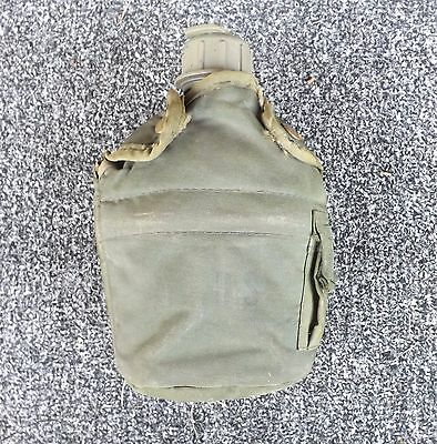 US ARMY Issue 1 qt Canteen - OD Green Cover and Metal Canteen Cup w/ Handles