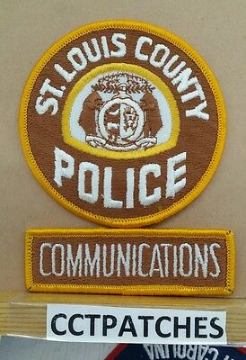 St Louis County, Missouri Police Communications Shoulder Patch Mo
