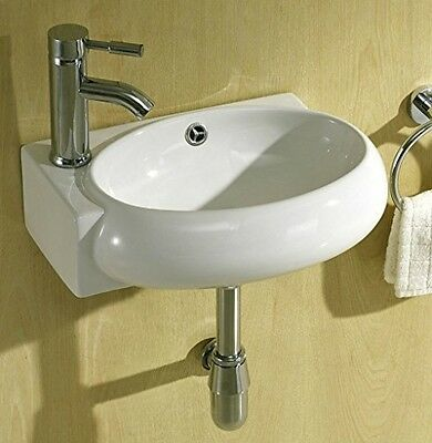 Small Compact Cloakroom Basin Bathroom Sink Round Offset Square Rectangle Left
