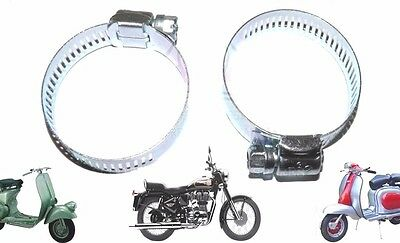 New Carburettor Air Hose Clamp Clip Set Of 2  For Lambretta Scooters @cad