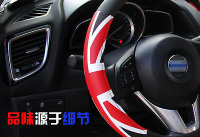 "BK 14.5-15"" Car Truck Union Jack Steering Wheel Cover Car Cool Universal Size M"