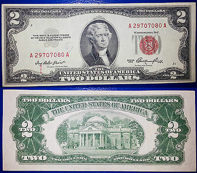 Rara 2 Dollari Del 1953 Sigillo Rosso Jefferson Rare 2 Dollars 1953 Red Seal