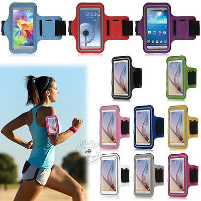 AU Jogging Gym Armband Sports Running Arm Band Case Cover Bag For Samsung Apple
