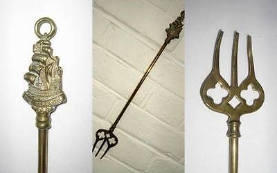 Toasting fork   Fighting ship The Revenge  Brass  Marshmallows crumpets muffins