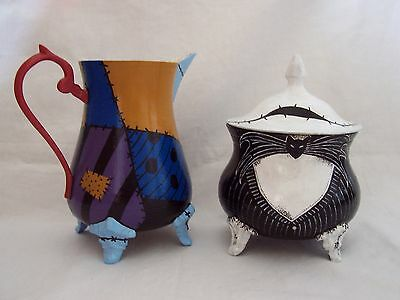 Nightmare Before Christmas The Essence of Jack and Sally Sugar Bowl and Milk Jug
