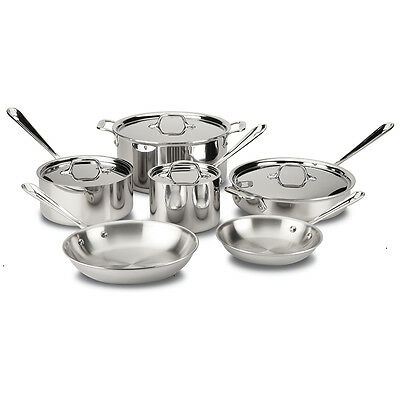 NEW All-Clad Stainless Steel Cookware Set 6pce